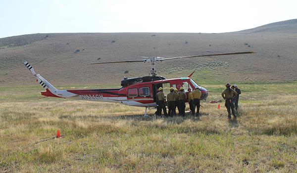 Began Wildland Fire Support Ops